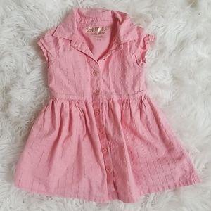 Genuine Kids OshKosh Pink/Gold Spring Easter Dress
